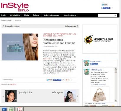 Keramax en la web de In Style 2